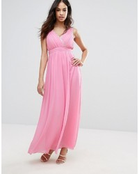 Wrap front maxi dress with embellished detail medium 6860815