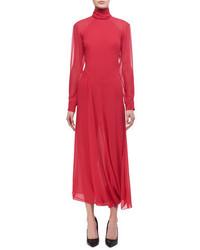 Victoria Beckham Open Back Turtleneck Midi Dress