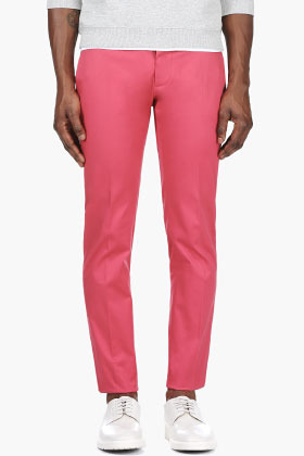 ... DSquared Dsquared2 Coral Pink Slim Trousers