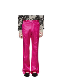 Dries Van Noten Pink Viscose Trousers