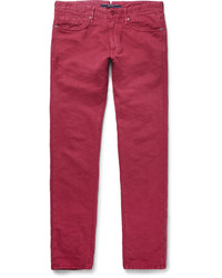 Incotex Slim Fit Linen And Cotton Blend Chinos