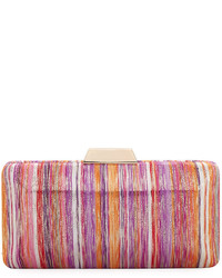 Neiman Marcus Multicolor Metallic Box Clutch Bag