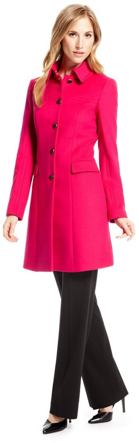 Hugo Boss Cesinala Wool Cashmere Coat Medium Pink | Where to buy ...