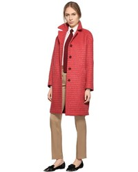 Checked Cashmere Silk Coat