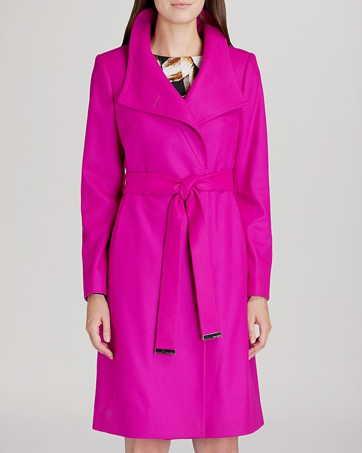 Ted Baker Coat Nevia Belted Wrap | Where to buy & how to wear