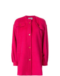 Gianfranco Ferre Vintage Collarless Shift Coat