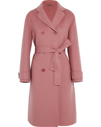Bottega Veneta Double Breasted Cashmere Coat Antique Rose