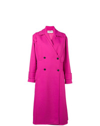Valentino Double Breasted Tricotine Coat