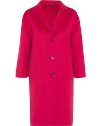 Gucci Oversized Wool And Angora Blend Coat Pink