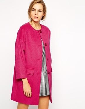 Helene Berman Collarless Coat | Where to buy & how to wear