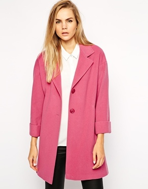 Helene Berman Two Button Swing Coat Pink | Where to buy & how to wear