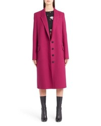 Alexander McQueen Long Wool Cashmere Coat