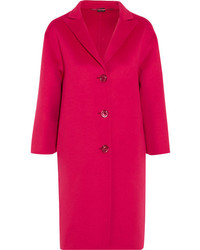 Oversized wool and angora blend coat pink medium 1213718
