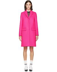 MSGM Pink Wool Coat