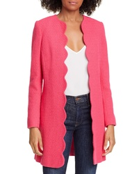 Helene Berman Scallop Edge Cotton Blend Jacket