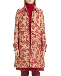 Valentino flower circles jacquard coat medium 4354734