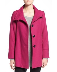 Wool blend swing coat medium 779194