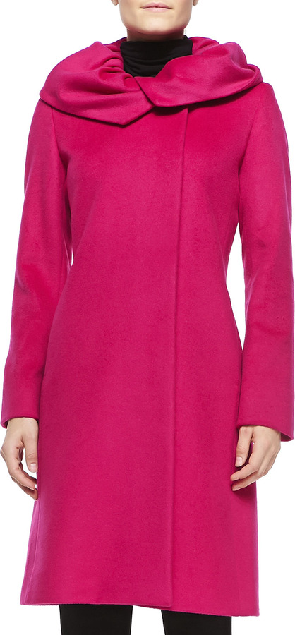 Cinzia Rocca Wool Gathered Collar Coat | Where to buy & how to wear
