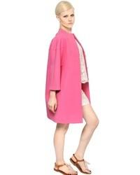 Valentino Woolsilk Drill Cocoon Coat