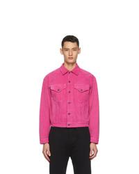 Hot Pink Corduroy Shirt Jacket