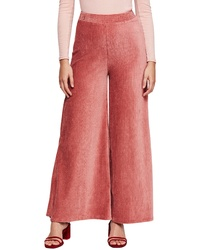 Hot Pink Corduroy Wide Leg Pants