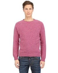 Hot Pink Crew-neck Sweater