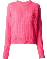 Alexander Wang T By Ribbed Crew Neck Sweater