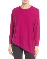 Eileen Fisher Asymmetrical Featherweight Cashmere Sweater