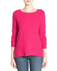 Caslon back zip highlow sweater medium 390375