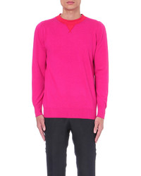 Sacai Crewneck Wool And Cashmere Blend Jumper