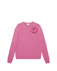 Gucci Detachable Rose Corsage Jumper