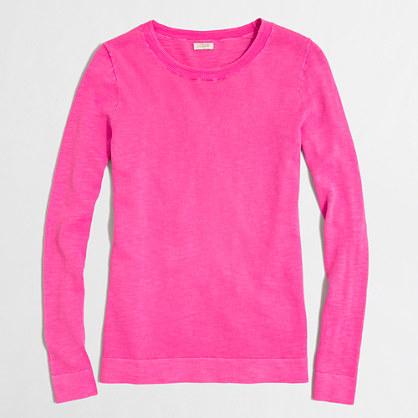Jcrew Factory Factory Slub Cotton Teddie Sweater Where To Buy