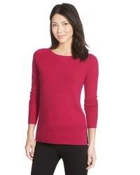 Petite Halogen Crewneck Lightweight Cashmere Sweater