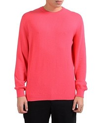 Malo Pink Crewneck 100% Cashmere Pullover Sweater Us Xl It 54