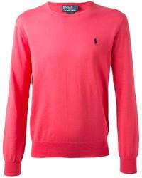 Ralph Lauren Purple Classic Ribbed Sweater