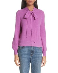 Co Tie Neck Cashmere Sweater