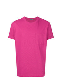 Hot Pink Crew-neck T-shirt