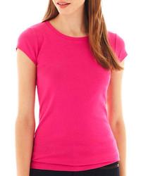 jcpenney Jcptm Short Sleeve Crewneck T Shirt