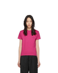 Balenciaga Pink Copyright Logo Fitted T Shirt