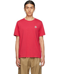 Moncler Pink Felted Graphic T Shirt