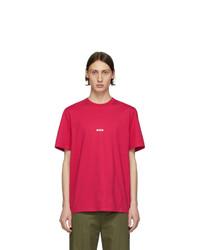 MSGM Pink Micro Logo T Shirt