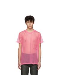 Helmut Lang Pink Organza Masc Little T Shirt