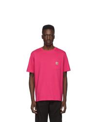 CARHARTT WORK IN PROGRESS Pink Pocket T Shirt
