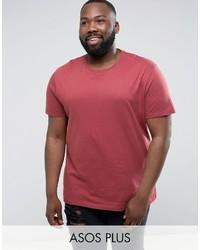 Asos Plus Longline T Shirt With Crew Neck