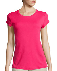 Liz Claiborne Short Sleeve Fitted Knit T Shirt