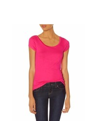 The Limited Luxe Fit Scoopneck Tee Pink M