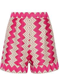 Missoni Crochet Knit Shorts Fuchsia