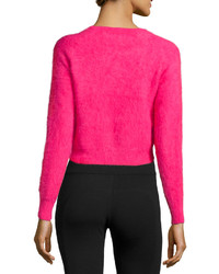 Line Angora Blend Cropped Sweater Rouge   Where to buy & how to wear