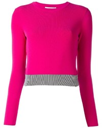 Cedric charlier bicolour cropped jumper medium 1201383