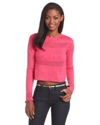MinkPink Lattice Crop Sweater
